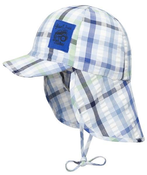 DÖLL® Jungen Sonnenhut Hut Nackenschutz Mütze Blau 49-55 S 2019 NEU!