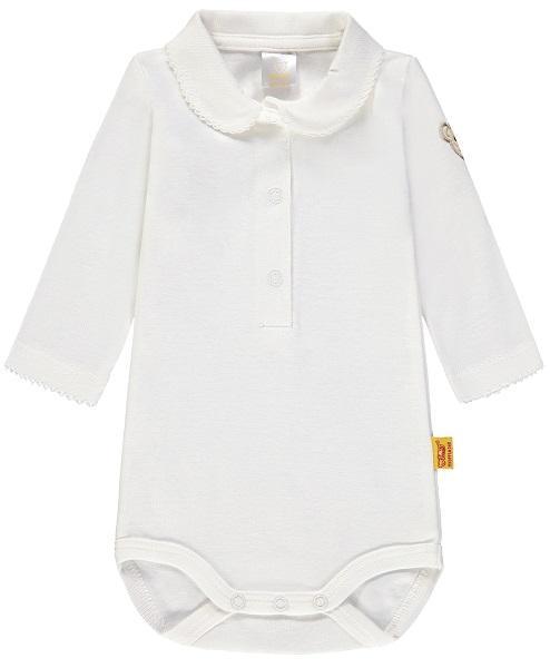 STEIFF® Mädchen Body mit Kragen Langarm festlich Weiß Gr 62-104 W 2018-19 NEU